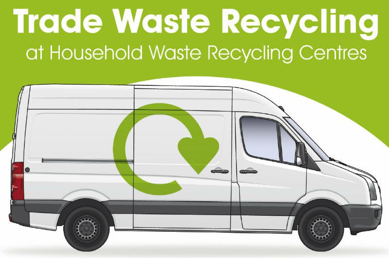 Trade waste recycling white van